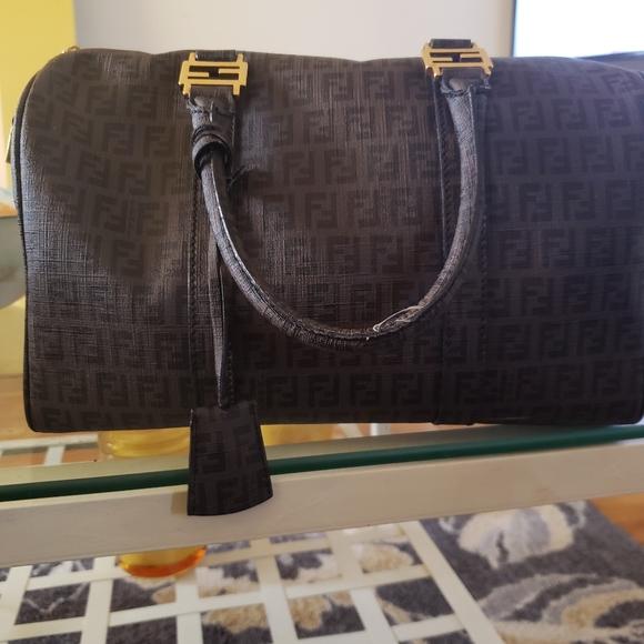 Fendi Handbags - Fendi Zucca Boston Bag
